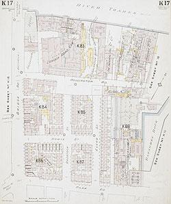 South West London Map.Insurance Plan Of London South West District Vol K Sheet 17